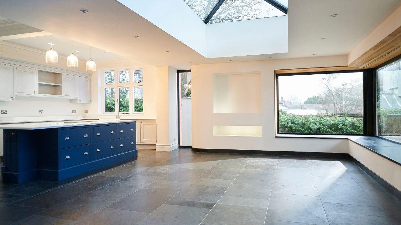 Open-plan kitchen extension